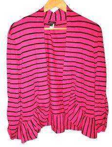 Torrid Peplum Open Front Cardigan Striped Sweater